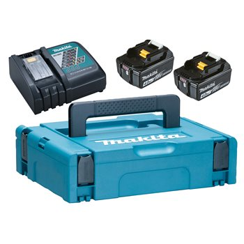 Produktbilde for Makita PowerPack lader, 2stk 18V/4,0Ah, koffert