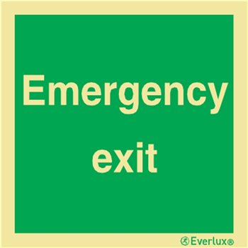Produktbilde for Emergency exit 15x15cm vinyl IMO